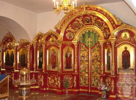 Иконостас для нижнего храма собора во имя Святой Троицы, г. Осинники