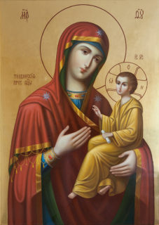 Образ Тихвинской иконы Божией Матери