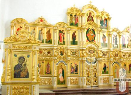 Иконостас в собор в честь Благовещения Пресвятой Богородицы в Биробиджане