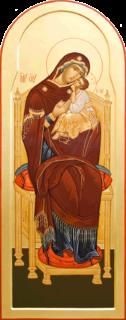 Икона «Богоматерь на троне»