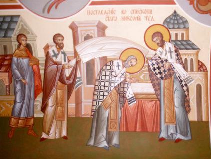 Роспись часовни в честь святителя Николая Чудотворца, г. Владимир