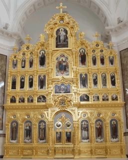 Иконостас в церковь Петра и Февронии, г. Донецк, Украина