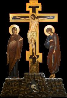 Крест с предстоящими на голгофе