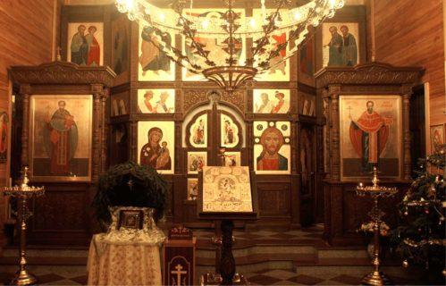 Тябловый иконостас в Никольский храм, с. Федоскино, Московской обл.
