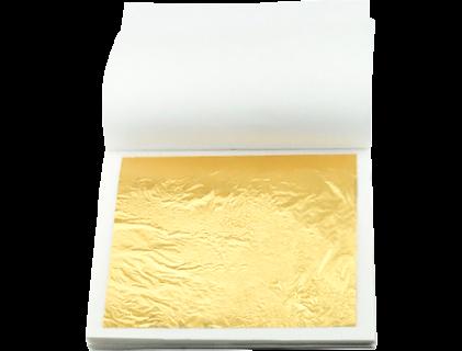 Сусальное золото (ГОСТ) в книжке 0.47 гр, 23.75 карат — (20 листов)