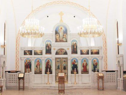 Мраморный иконостас  в церковь во имя иконы Божией Матери «Взыскание погибших», Москва