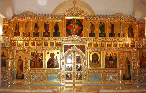 Иконостас в Свято-Алексеевский скит, г. Саратов