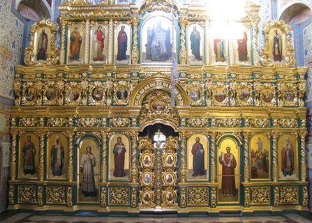 Барочный иконостас в Успенский храм, г. Суздаль
