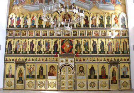 Тябловый иконостас для храма в честь прп. Сергия Радонежского — Варницкий мон.