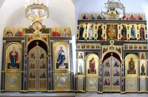 Иконостасы в боковые приделы храма в честь прп. Сергия Радонежского, Варницкий мон.