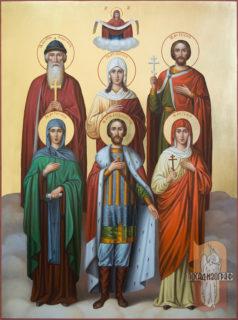 Семейная икона — Александр, Татьяна, Юлия, Владимир, Евгений и Евгения
