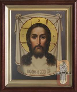 Икона «Спас Нерукотворный» в киоте