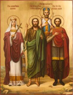 Семейная икона — Иоанн, Екатерина, Александр, Константин