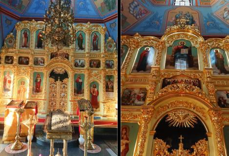 Центральный иконостас Троицкого храма с. Прозорово