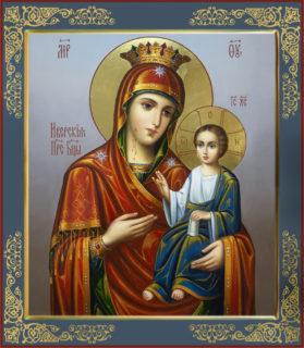 Рукописная икона Божией матери Владимирской